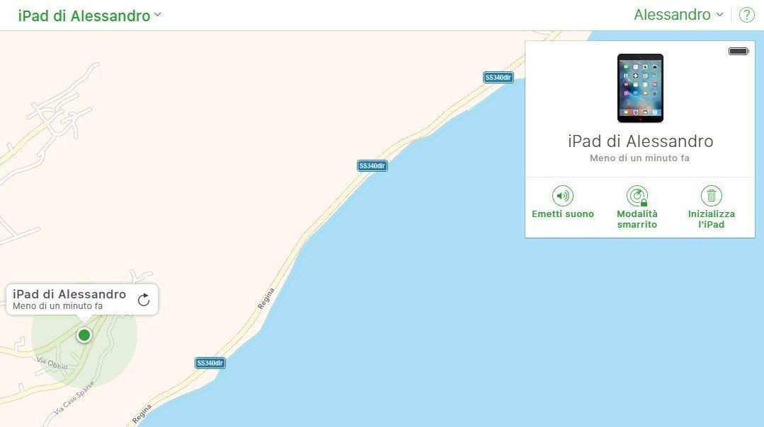 Mappa-iPad-Alessandro-Trova-Iphone-Ipad-smarrito