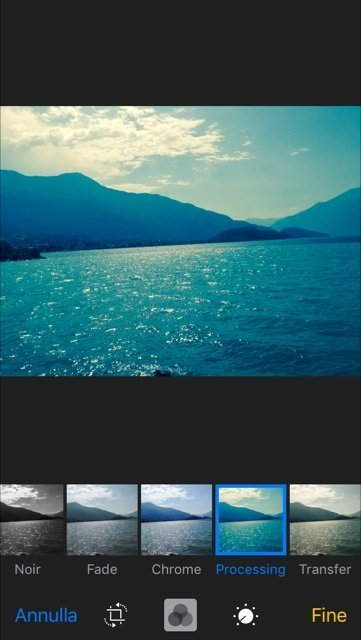 foto filtri ios 10